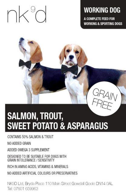 Salmon Trout Sweet Potato and Asparagus